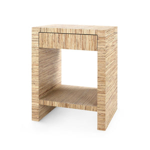 bungalow 5 morgan 1 drawer side table natural angle