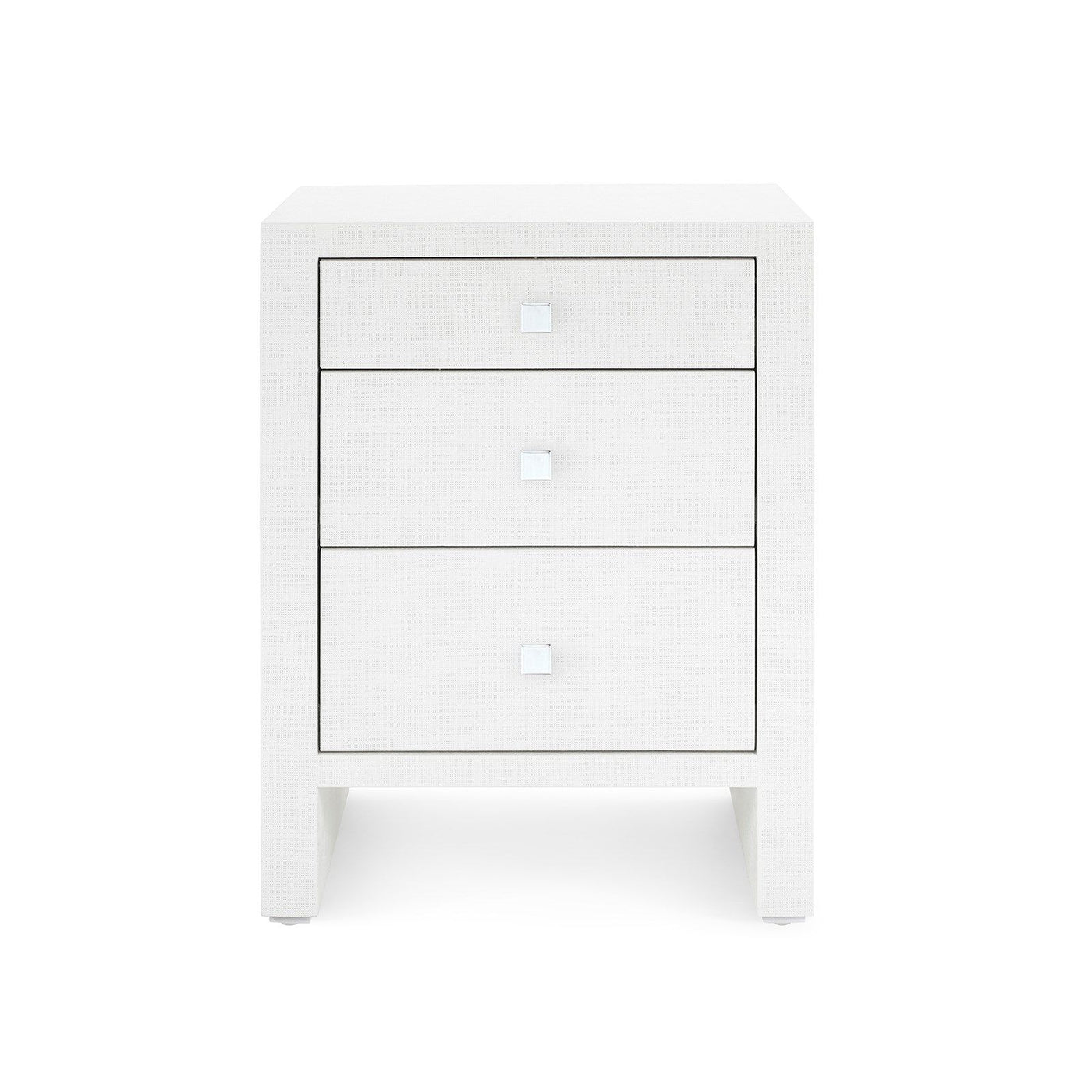 bungalow 5 morgan 3 drawer bedside table white