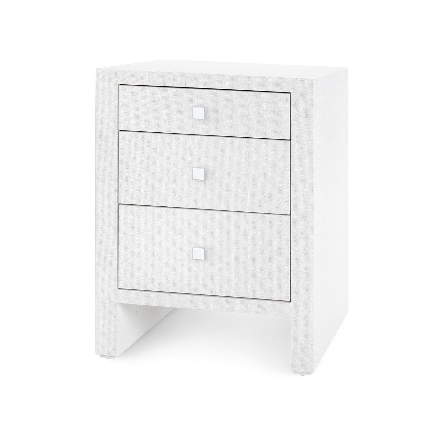 bungalow 5 morgan 3 drawer bedside table white angle