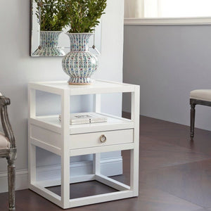 bungalow 5 newport one drawer side table styled