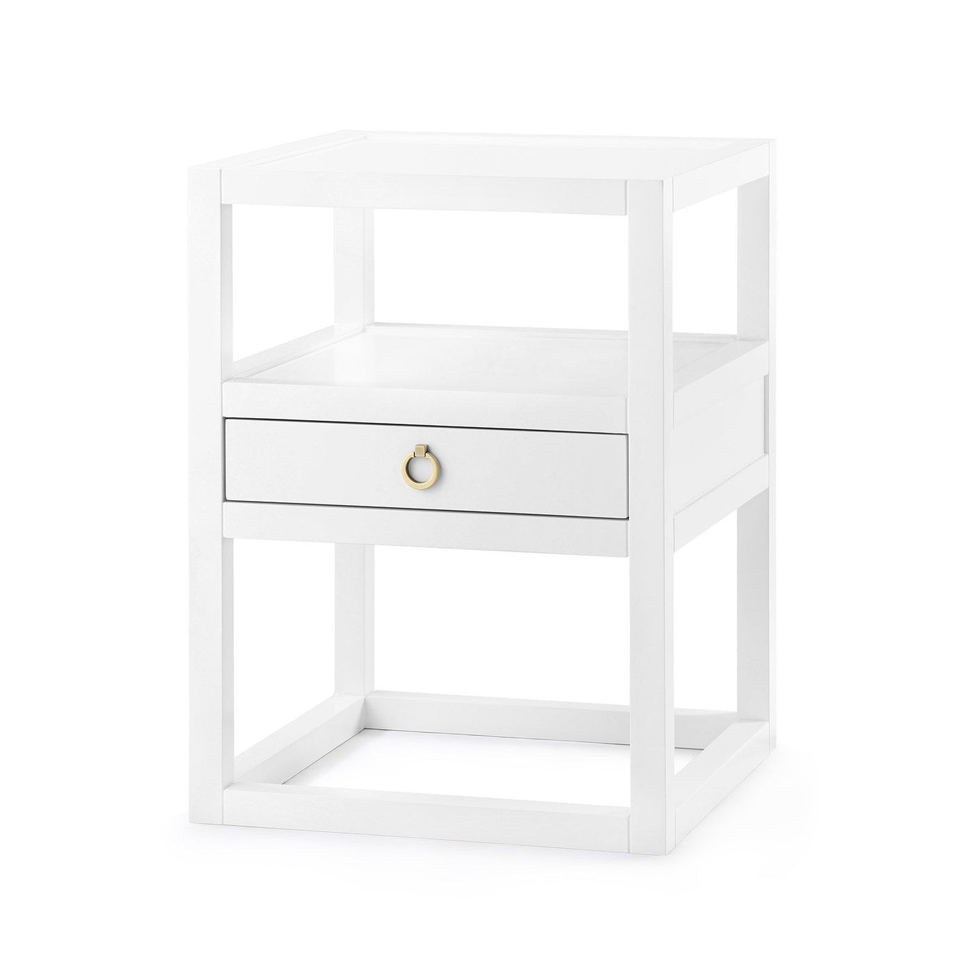 bungalow 5 newport one drawer side table angle