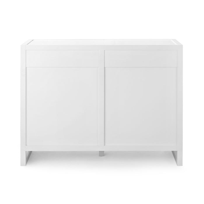 bungalow 5 newton large 8 drawer chest white back