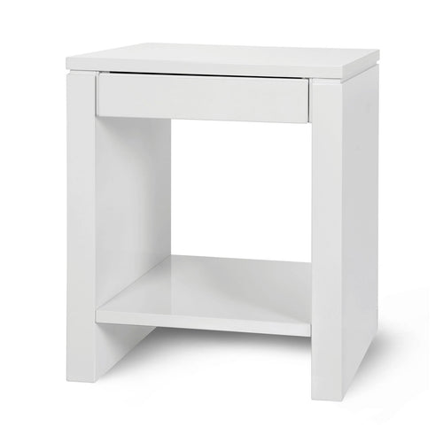 bungalow 5 odom side table white