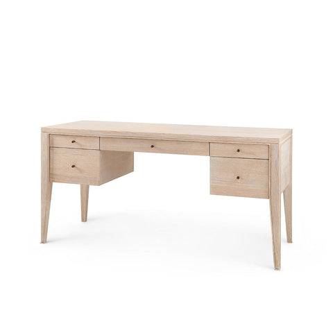 bungalow 5 paola desk bleached cerused oak
