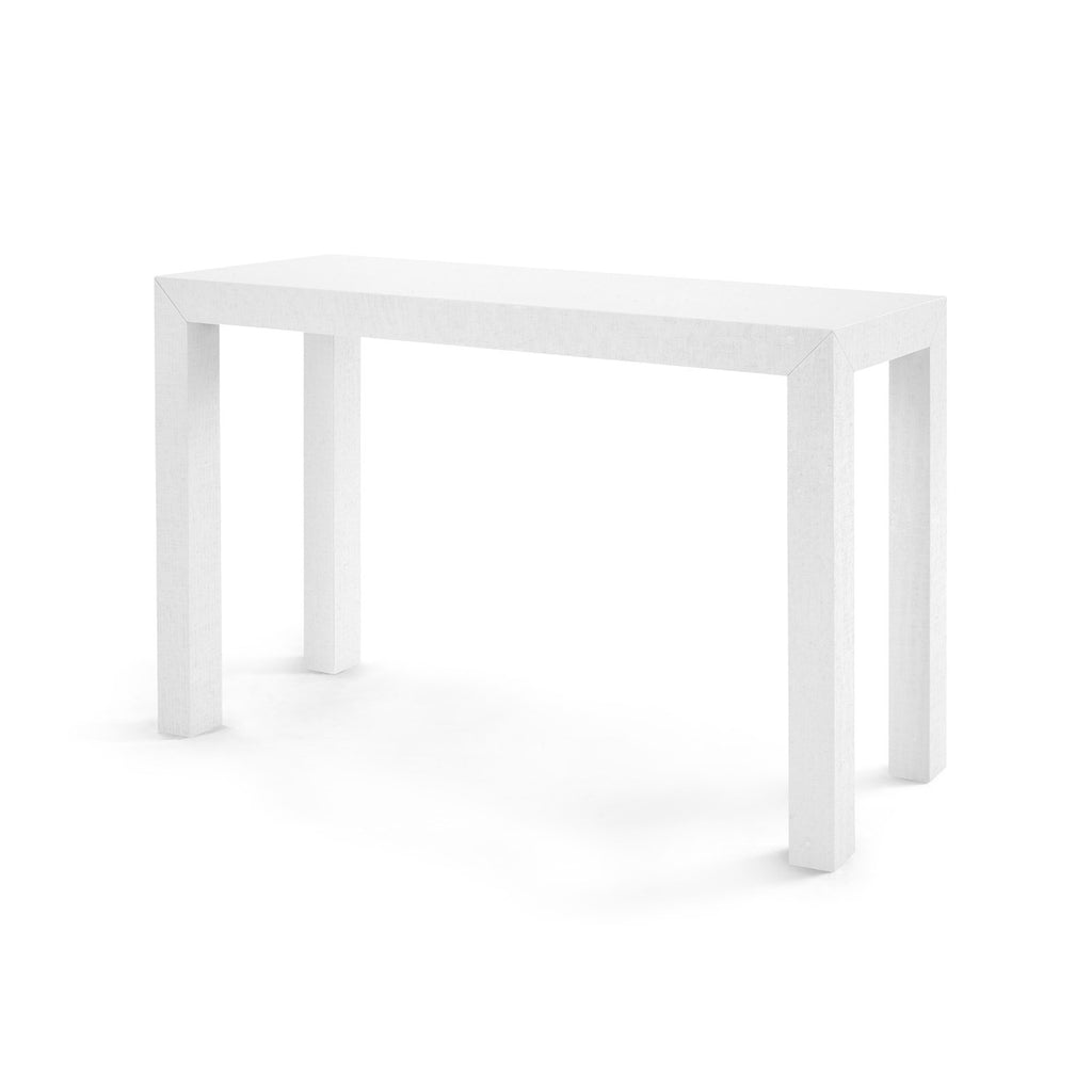 5 Console Table ~ Bungalow parsons console table white clayton gray home