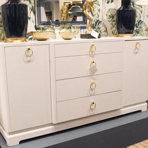 bungalow 5 pavel 4 drawer 2 door cabinet white