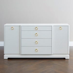 bungalow 5 pavel 4 drawer two door cabinet white front