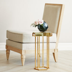 bungalow 5 prism round side table gold styled