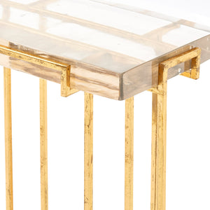 bungalow 5 prism side table gold top