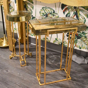 bungalow 5 prism side table gold