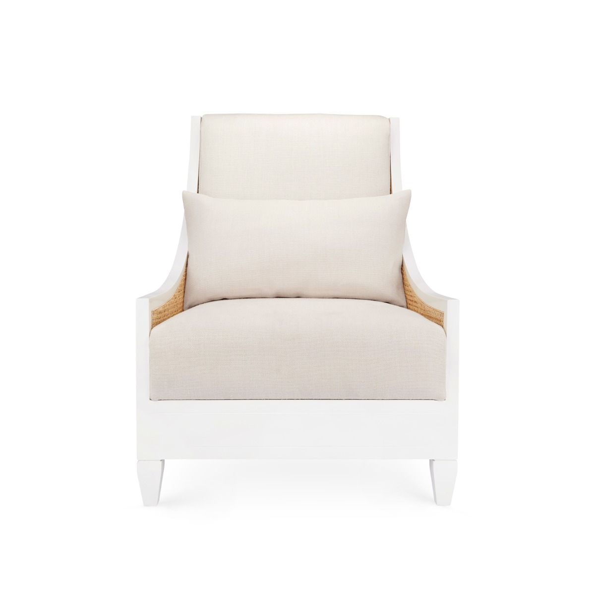 bungalow 5 raleigh armchair white front