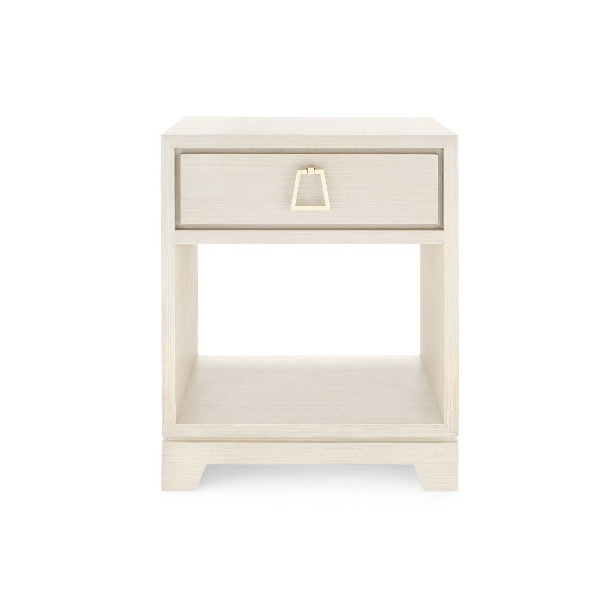 bungalow 5 stanford one drawer side table blanched oak