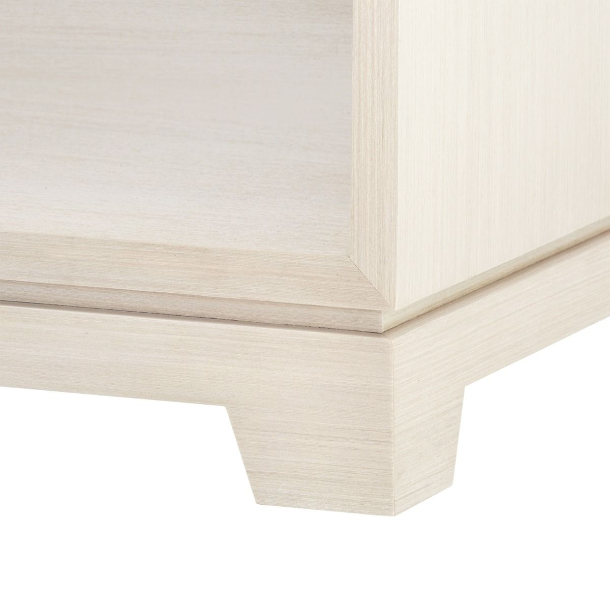bungalow 5 stanford one drawer side table blanched oak foot