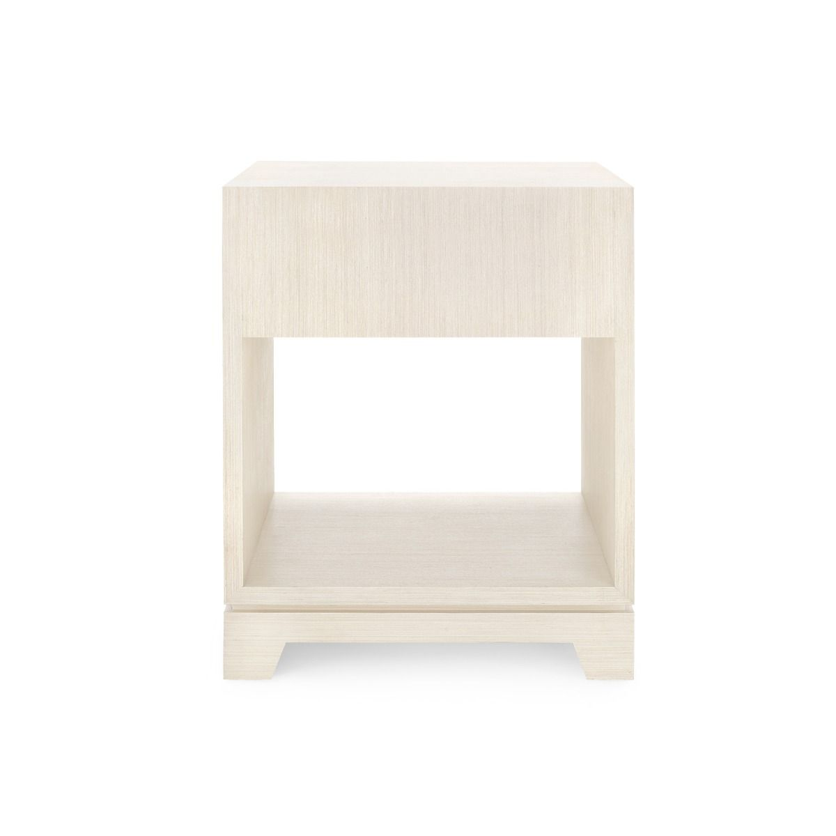 bungalow 5 stanford one drawer side table blanched oak angle