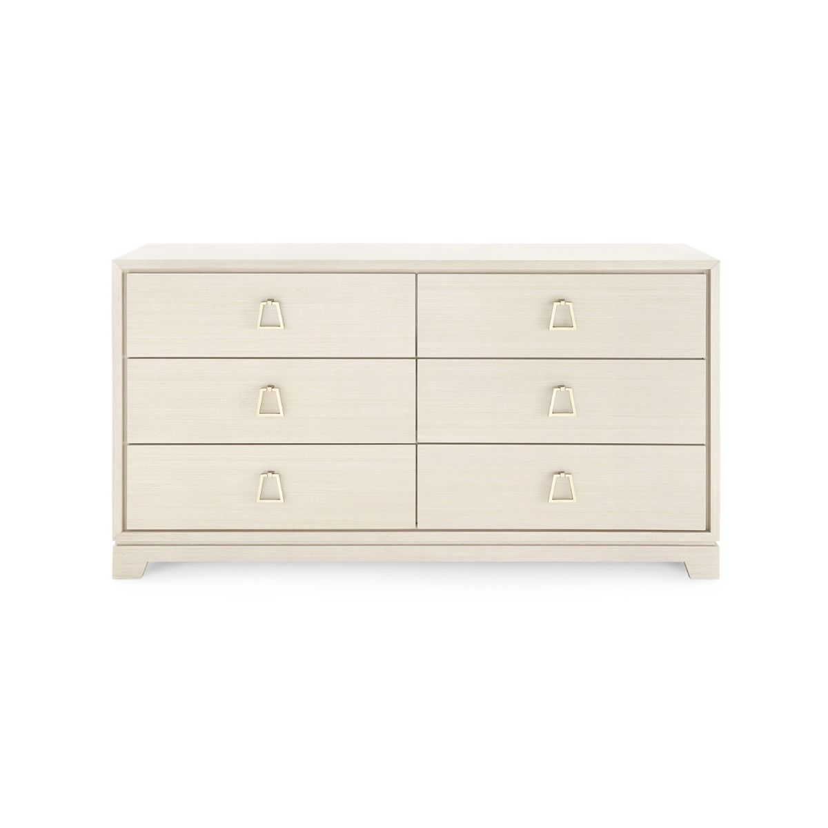 bungalow 5 stanford 6 drawer chest blanched white
