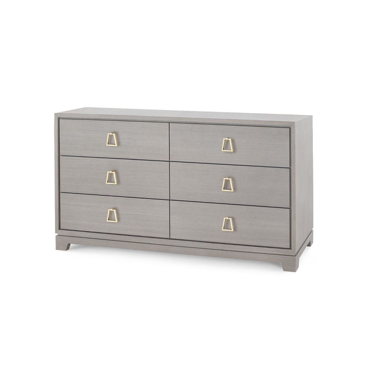 bungalow 5 stanford 6 drawer chest gray