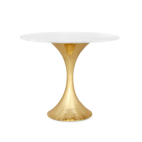 bungalow 5 stockholm center table brass and white marble