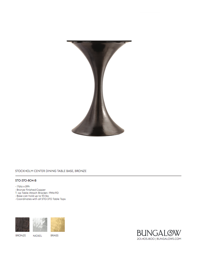 bungalow 5 stockholm center table tearsheet bronze