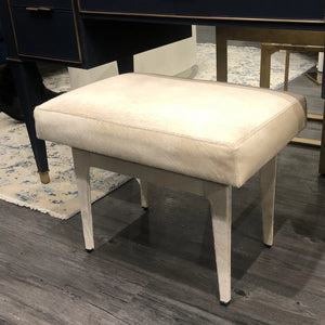 bungalow 5 winston stool ivory hide seating showroom desk