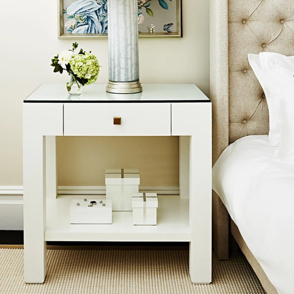 made goods valentina 1 drawer side table white styled