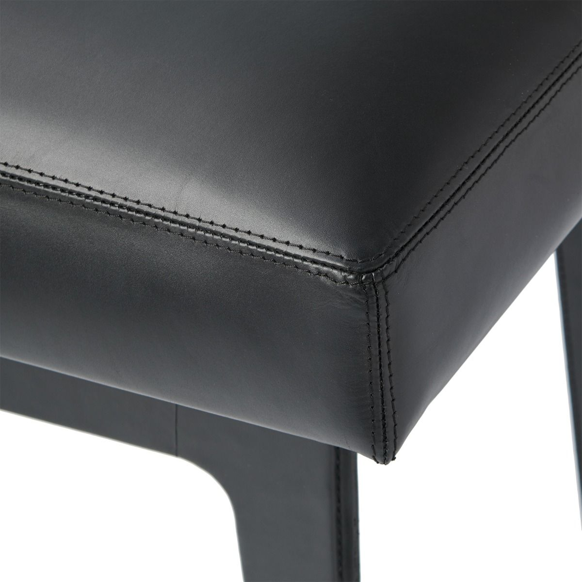 bungalow 5 winston stool black leather corner