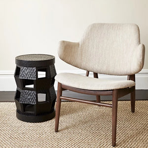 bungalow 5 zanzibar stool black next to chair
