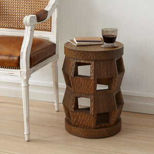 bungalow 5 zanzibar stol side table driftwood next to chair
