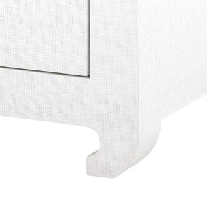 bungalow 5 2 drawer white side table foot
