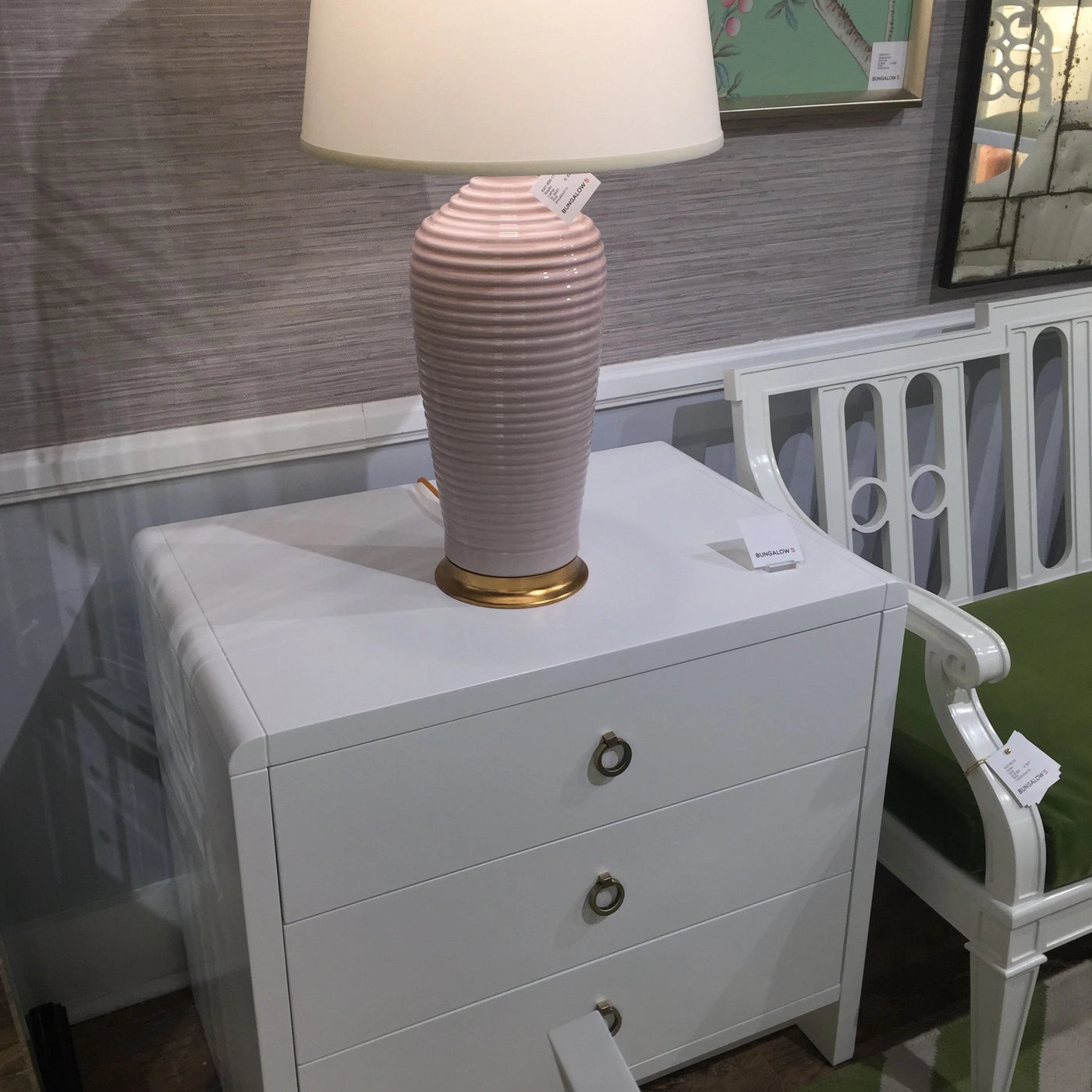 bungalow 5 bryant side table white showroom