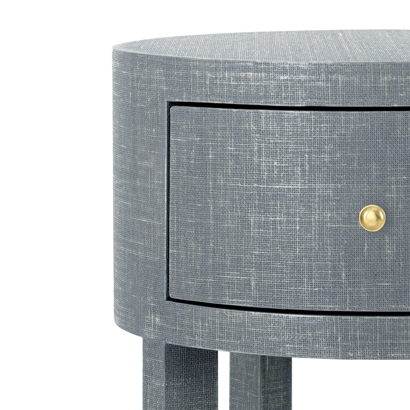 bungalow 5 claudette 1 drawer side table round drawer detail