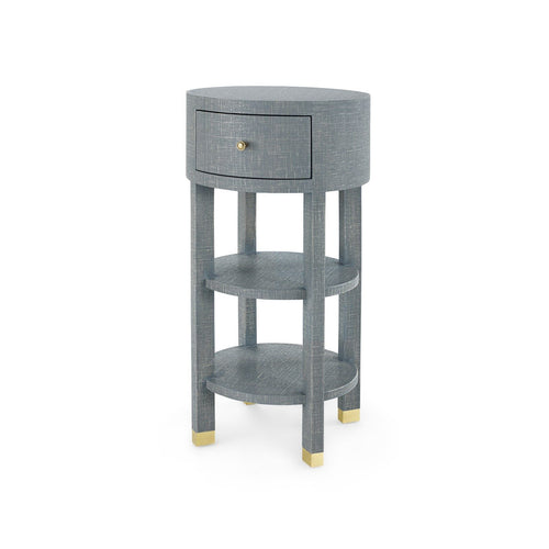 bungalow 5 claudette 1 drawer side table round