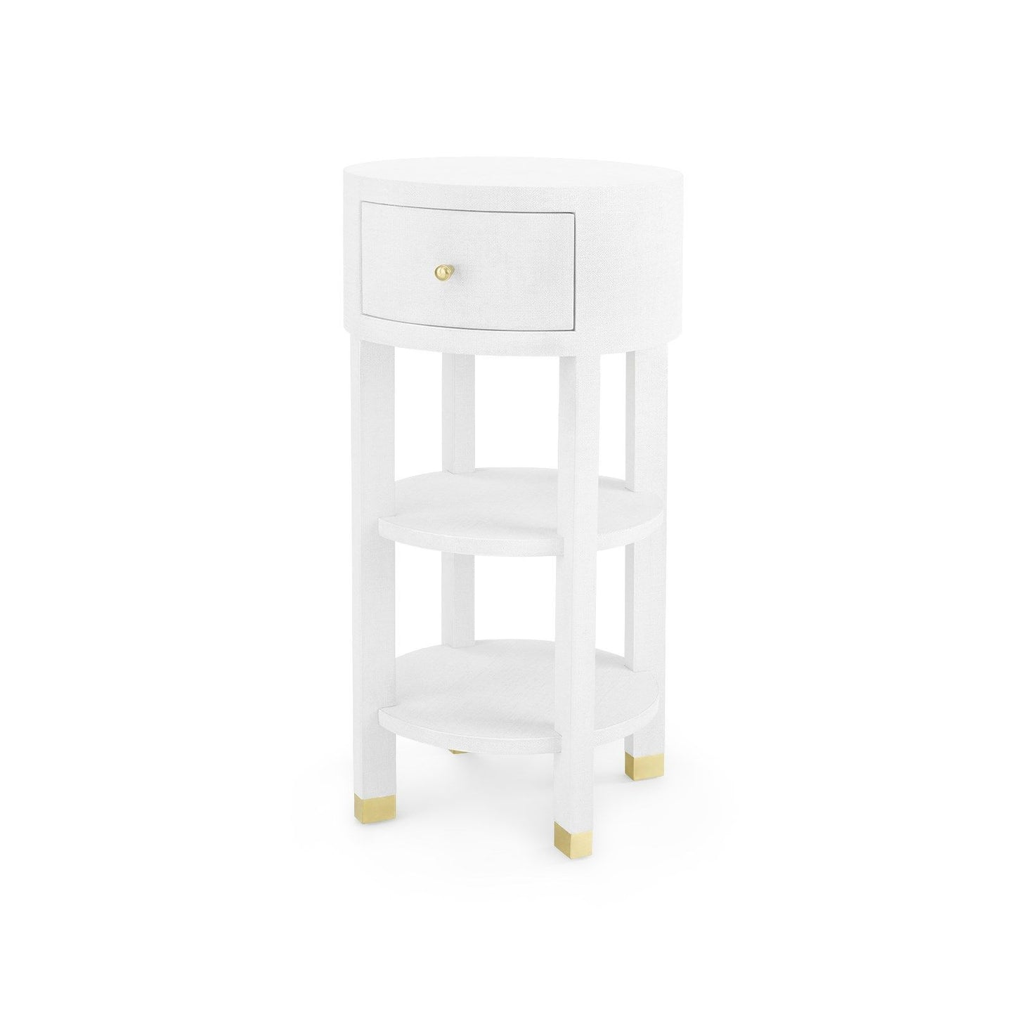 Bungalow 5 Claudette One Drawer Round Side Table White