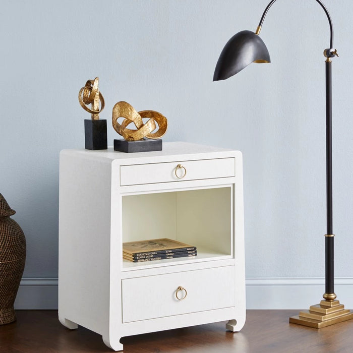 bungalow 5 ming 2 drawer side table white room