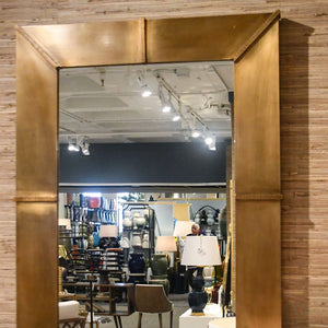 bungalow 5 brea mirror antique brass rectangle showroom