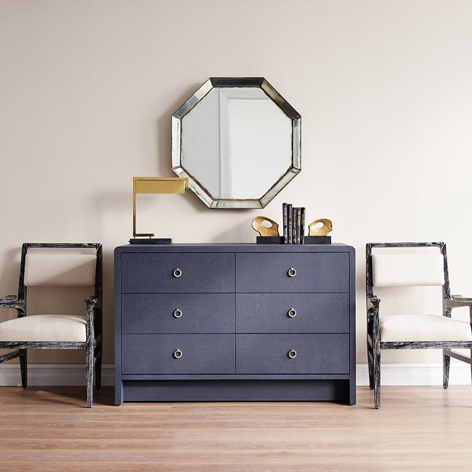 bryant extra large drawer navy blue dining  room