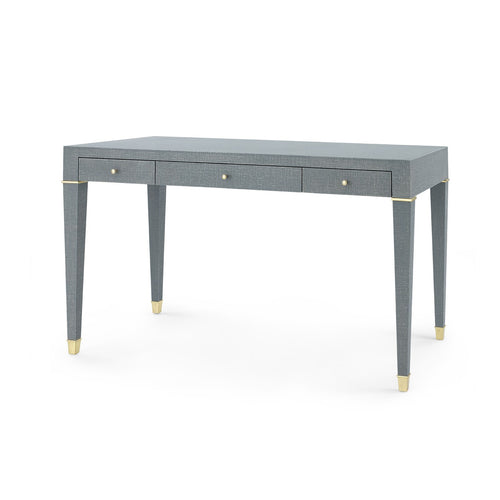 bungalow5 claudette desk gray linen wrapped