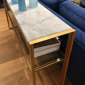 bungalow 5 endura console brass marble showroom