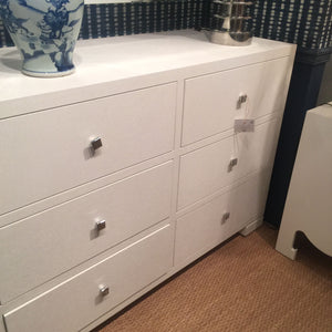 bungalow 5 francés 6 drawer dresser white showroom