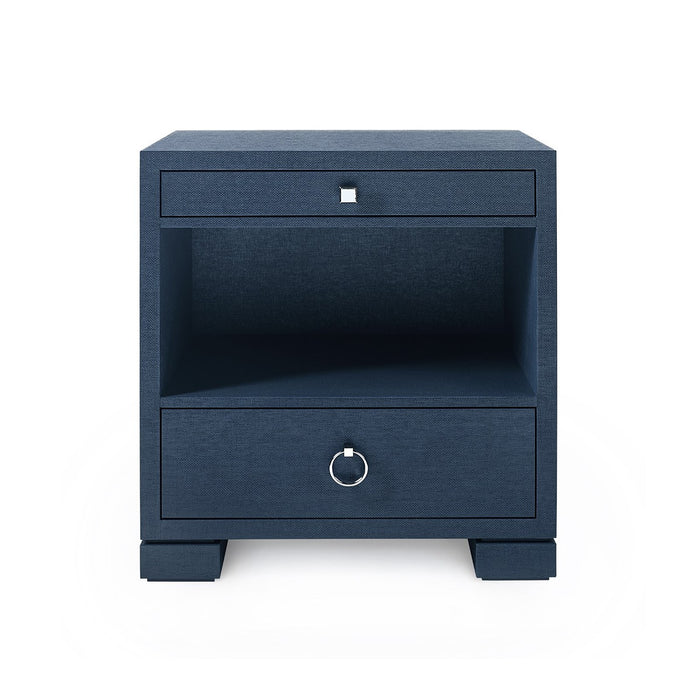 bungalow 5 francés side table navy blue front