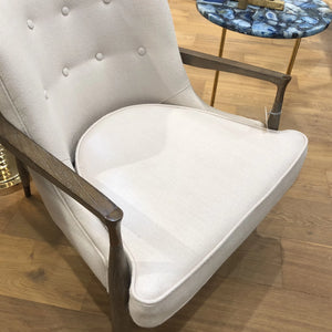 bungalow 5 frans chair wood frame upholstered showroom