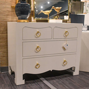 bungalow 5 jacqui 4 drawer white chest dresser showroom