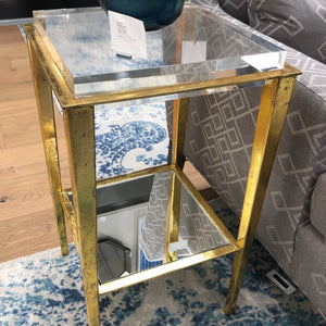 bungalow 5 Kimberly side table gold brass showroom