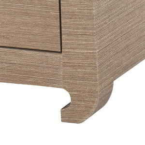 bungalow 5 ming 2 drawer side table chow leg close up