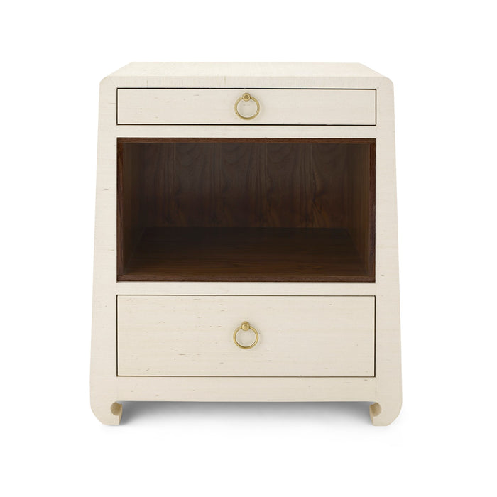 Ming 2 Drawer Side Table Natural