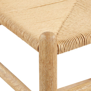 bungalow 5 oslo chair natural rope wood closeup