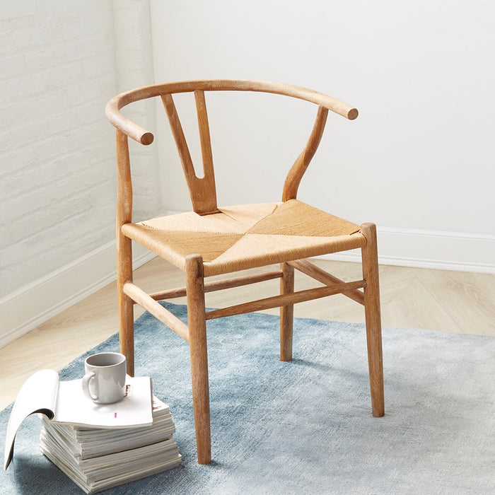 bungalow5 oslo armchair natural wood seating