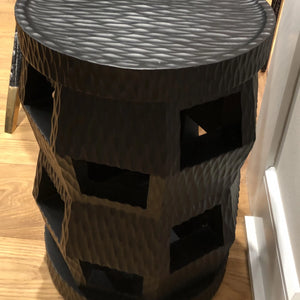 bungalow 5 zanzibar stool black showroom