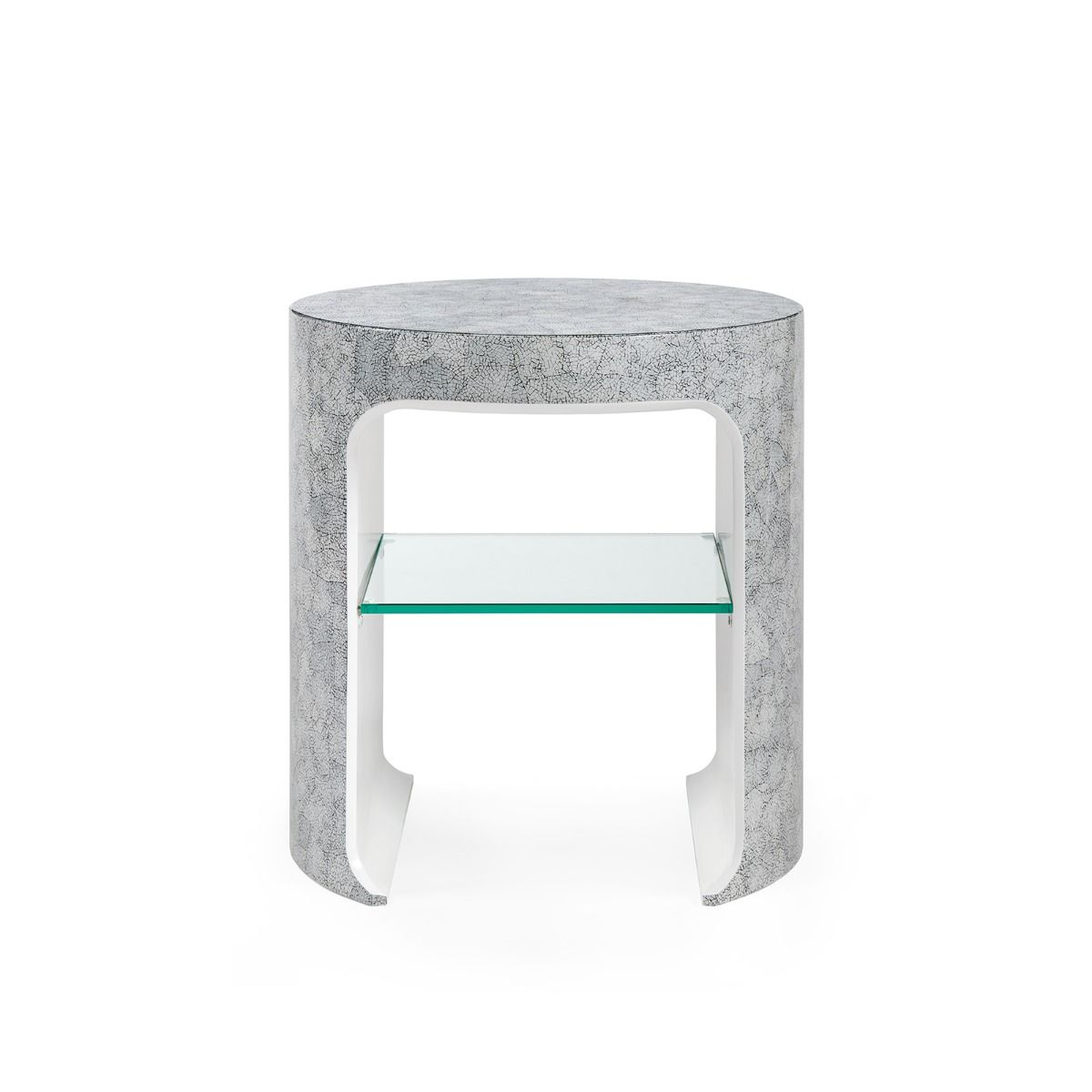 bungalow 5 carrel side table gray front