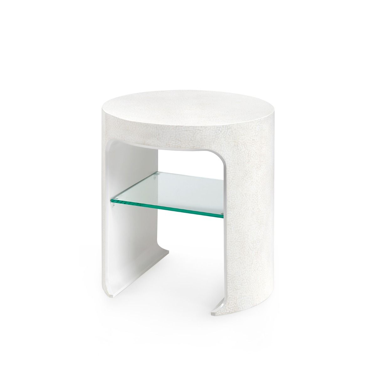 bungalow 5 carrel side table white angle