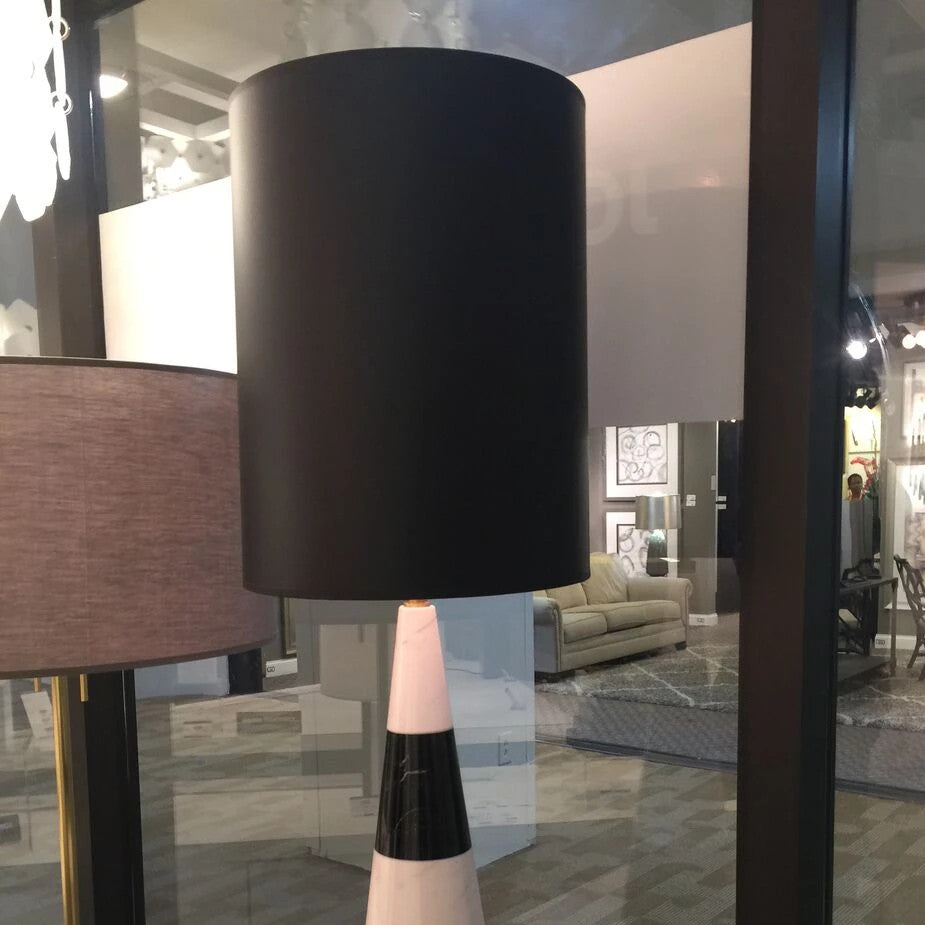 Jonathan Adler Canaan Tapered Lamp With Black Shade